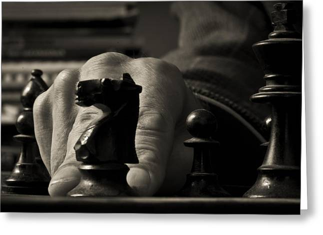 Your Move Greeting Card by Nathan Wright