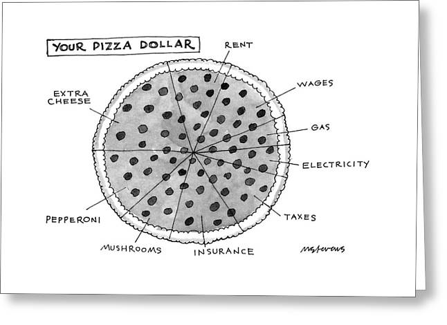 Your Pizza Dollar Greeting Card