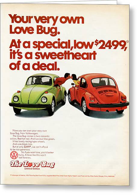 Your Very Own Love Bug Greeting Card by Georgia Fowler
