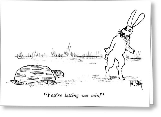 You're Letting Me Win! Greeting Card by William Steig