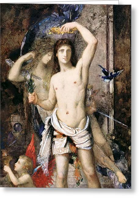 Youth And Death Greeting Card by Gustave Moreau