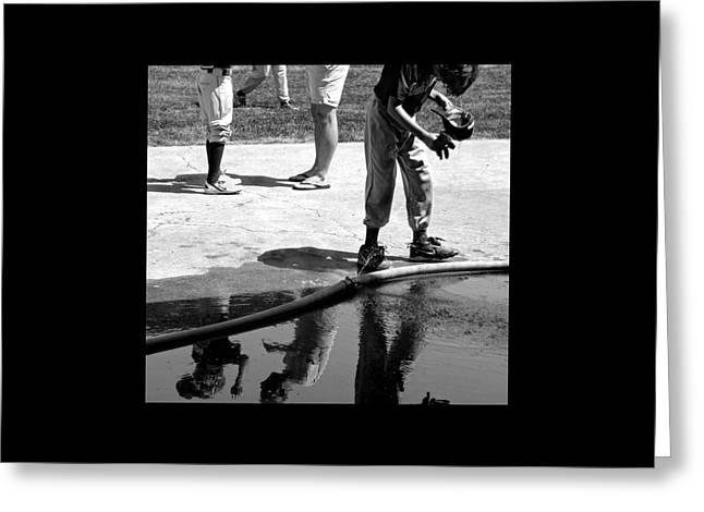 Youth Baseball 1 Greeting Card by David Gilbert