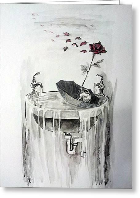 Youth Is Ephemeral Greeting Card by Gladiola Sotomayor