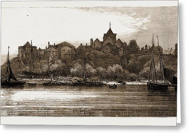 Ypres Tower, Rye From The Ferry, Uk Greeting Card by Litz Collection