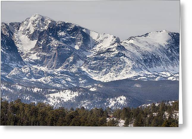 Ypsilon Mountain And Fairchild Mountain Panorama Rmnp Greeting Card by James BO  Insogna