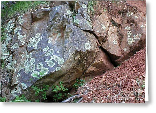 Yuba River Rock Greeting Card
