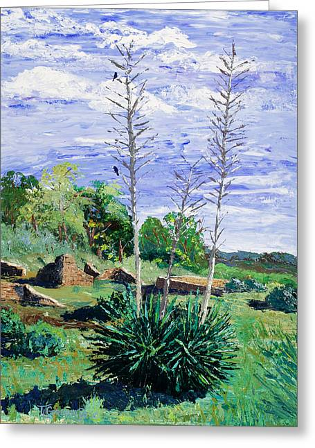 Yucca At The Ruins Greeting Card