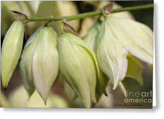 Yucca Flowers No. 1 Greeting Card by Susan Schroeder