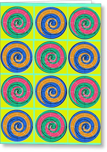 Yum Yums Lifesaver Spiral Orb Circle Bubble Pop A La After Warhol Greeting Card