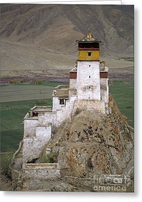 Yumbulagang Temple Tibet Greeting Card by Craig Lovell