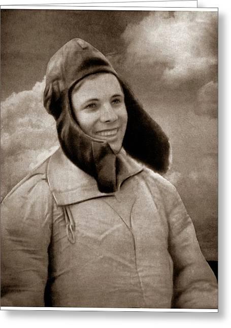 Yuri Gagagrin Greeting Card by Detlev Van Ravenswaay