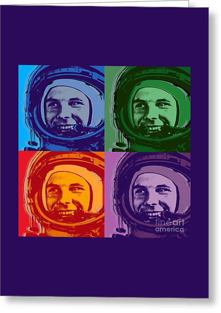 Yuri Gagarin  Greeting Card by Jean luc Comperat