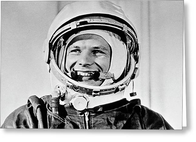 Yuri Gagarin Greeting Card by Sputnik/science Photo Library