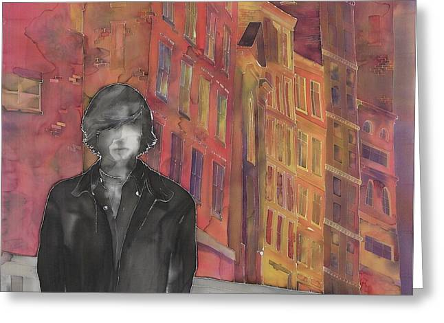Z And The City 2 Greeting Card by Carolyn Doe