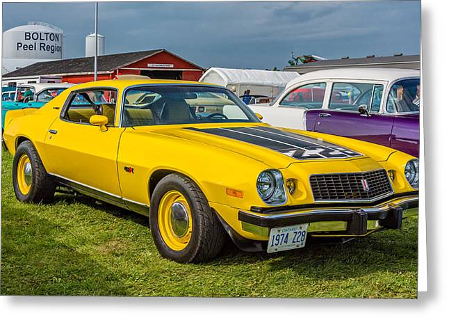 Z28 Camaro Greeting Card by Steve Harrington