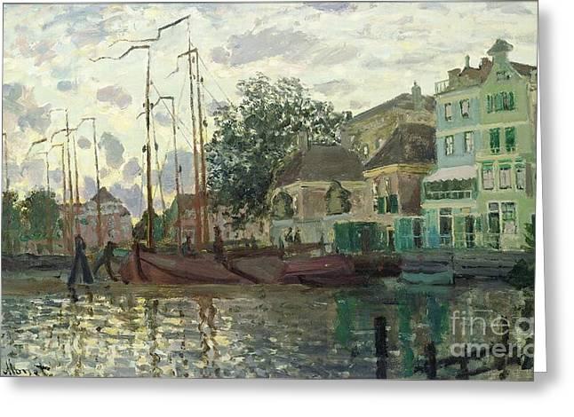 Zaandam The Dike Evening 1871 Greeting Card by Claude Monet