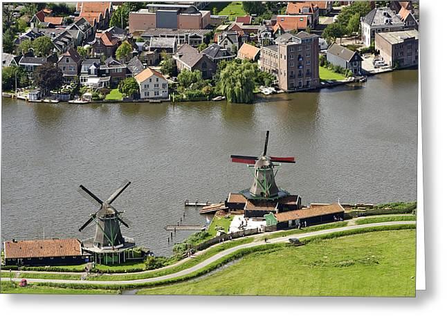 Zaanse Schans Zaandam, Noord-holland Greeting Card by Bram van de Biezen