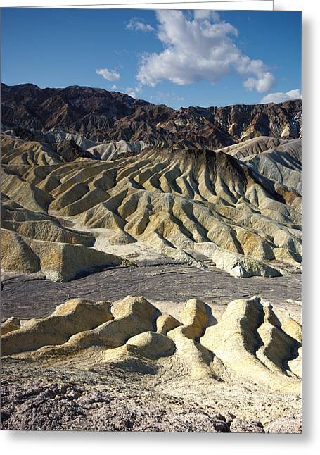 Zabriskie Point Death Valley By Frank Lee Hawkins Greeting Card