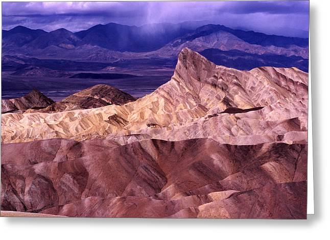 Zabriskie Point Death Valley National Park Greeting Card