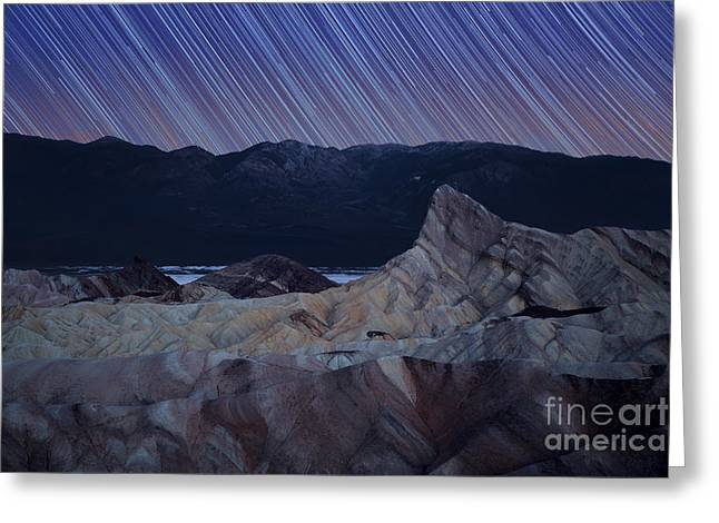 Zabriskie Point Star Trails Greeting Card by Jane Rix