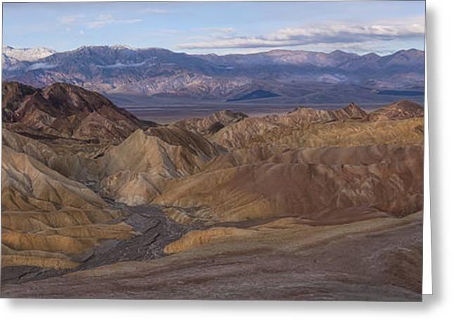 Zabriskie Point Sunrise - Death Valley National Park Greeting Card by Sandra Bronstein