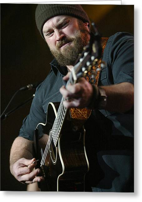 Zac Brown Band Greeting Card by Don Olea