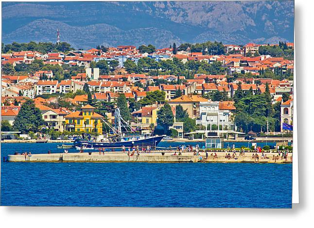 Zadar Waterfront Sea Organs View Greeting Card