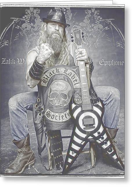 Zakk Wylde 2 Greeting Card