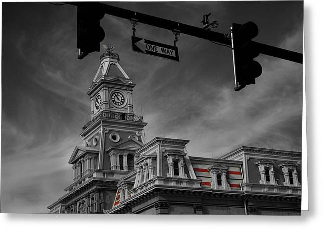 Zanesville Oh Courthouse Greeting Card
