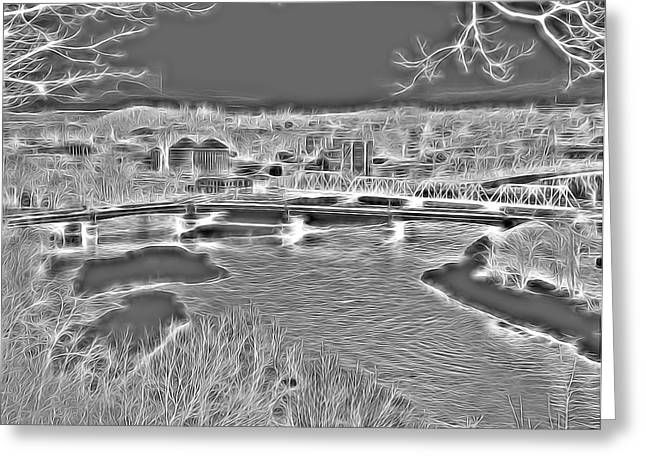 Zanesville Ohio Ybridge Greeting Card