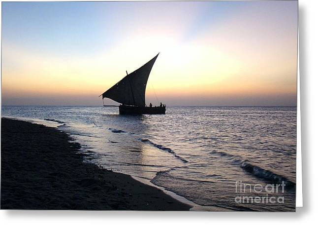 Zanzibar Sunset 20 Greeting Card by Giorgio Darrigo