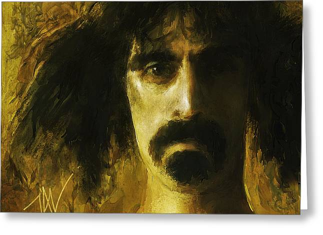 Zappa Greeting Card by John Lowther