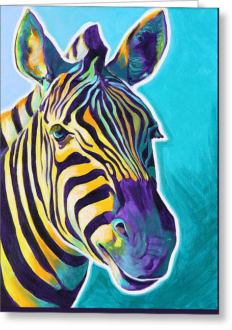 Zebra - Sunrise Greeting Card by Alicia VanNoy Call