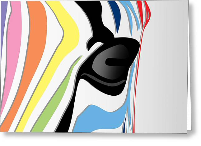 Zebra 1 Greeting Card by Mark Ashkenazi