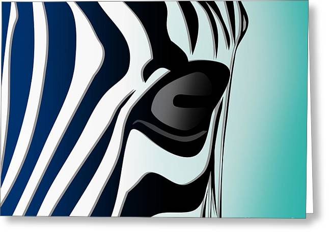 Zebra 2 Greeting Card