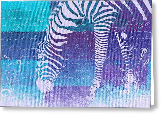 Zebra Art - Bp02t01 Greeting Card by Variance Collections