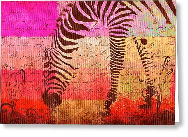 Zebra Art - T1cv2blinb Greeting Card