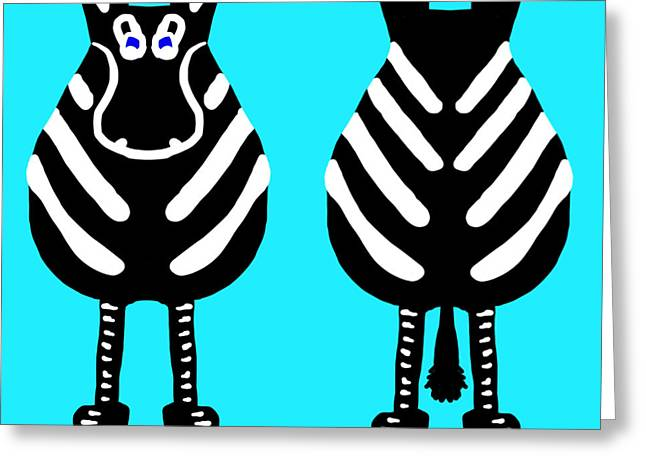 Zebra - Both Ends Greeting Card