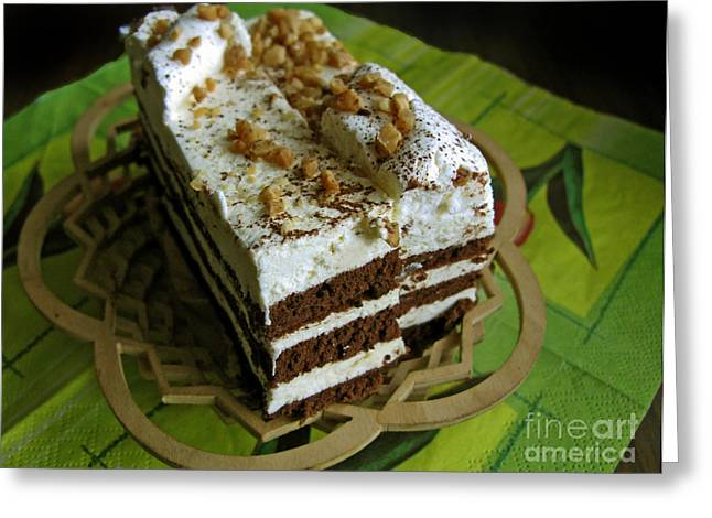 Zebra Cake Greeting Card by Ausra Huntington nee Paulauskaite
