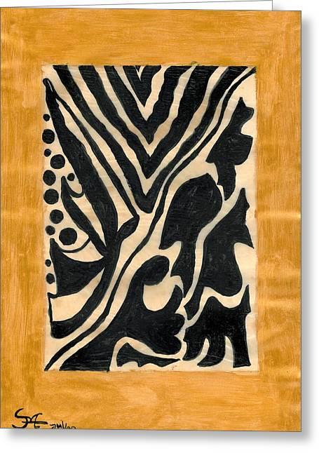Zebra Greeting Card by Carla Sa Fernandes
