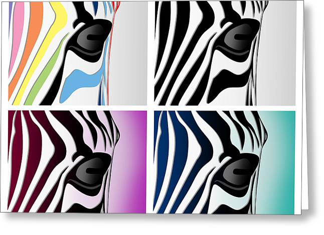 Zebra Collage   Greeting Card