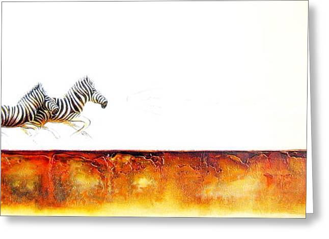 Zebra Crossing - Original Artwork Greeting Card