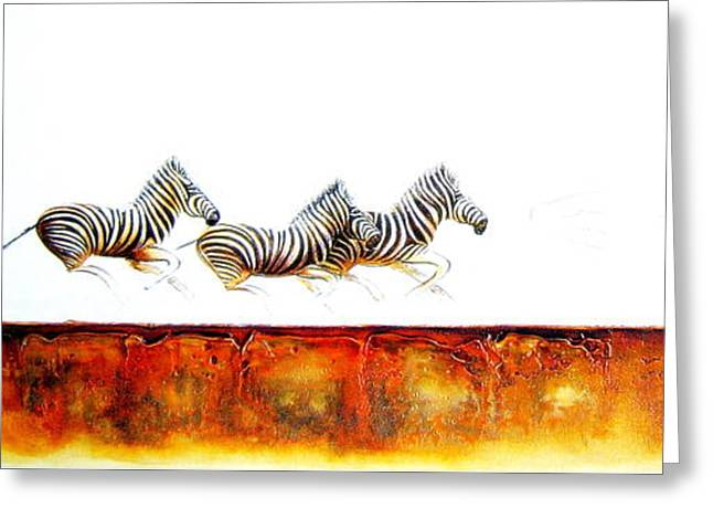 Zebra Crossing - Original Artwork Greeting Card