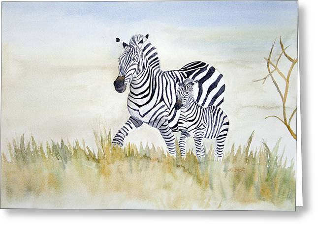 Zebra Family Greeting Card
