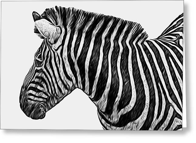 Zebra - Happened At The Zoo Greeting Card by Jack Zulli
