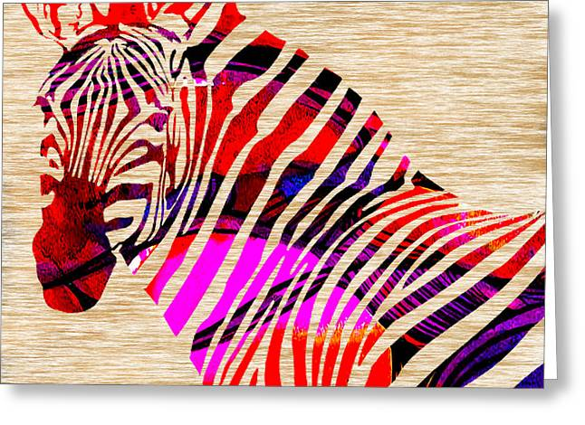 Zebra Greeting Card by Marvin Blaine