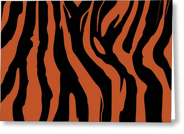 Zebra Print 003 Greeting Card by Kenneth Feliciano