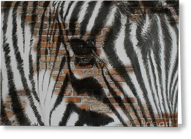 Zebra Wall Greeting Card