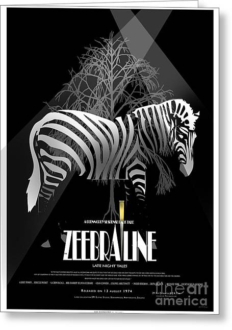 Zebraline Movie Poster Classic A Tribute To Ageth  Greeting Card by Weiler WEILER