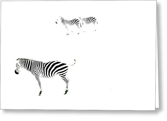 Zebras 1 Greeting Card